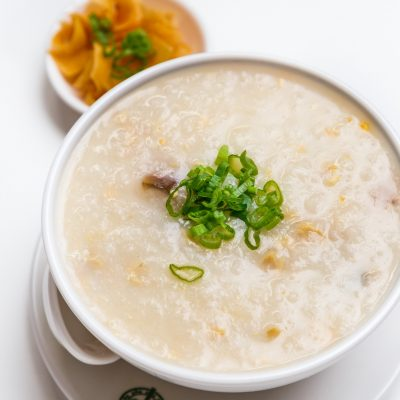 Tim Ho Wan - Congee with Pork and Preserved Egg