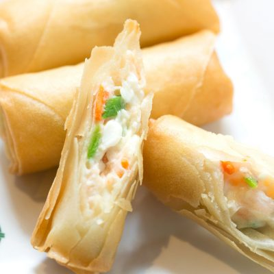 Tim Ho Wan - Deep Fried Spring Roll with Egg White and Shrimp